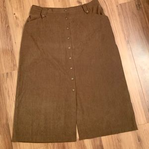 Alfred Dunner chocolate brown long skirt